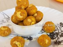 Carrot coconut laddoo